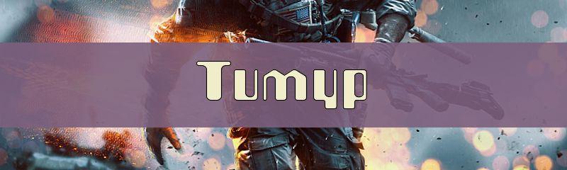 Ники для имени Тимур